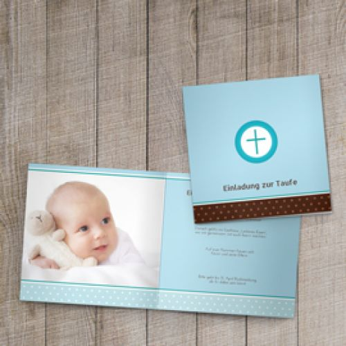 taufkarten gestalten - karten zur taufe erstellen, Einladung