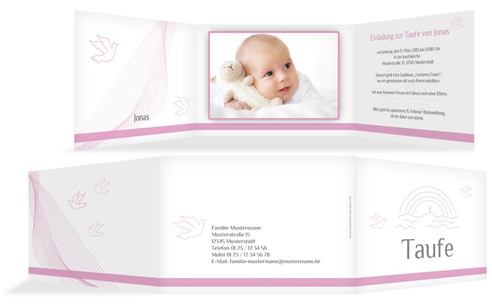 Einladungskarten zur Taufe - Taufeinladungen